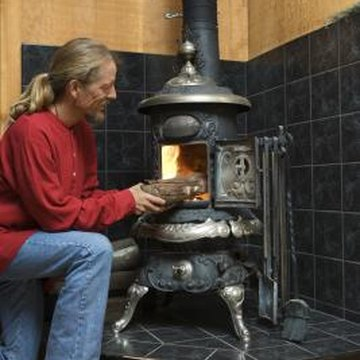 Stove black works best on unpainted cast-iron wood stoves.