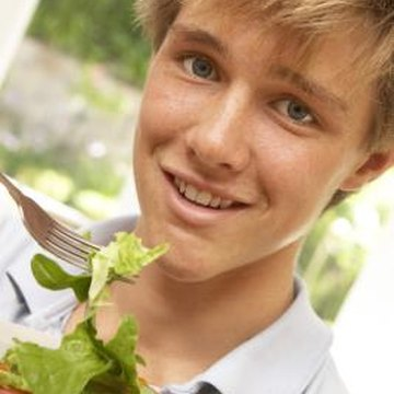 Eating plenty of vegetables can help a 14-year-old get enough vitamins and minerals.