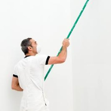 A long-handle drywall sander gives a smooth finish to drywall.
