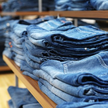 Each pair of jeans becomes distinctly distressed and acquires it own fade patterns over time.