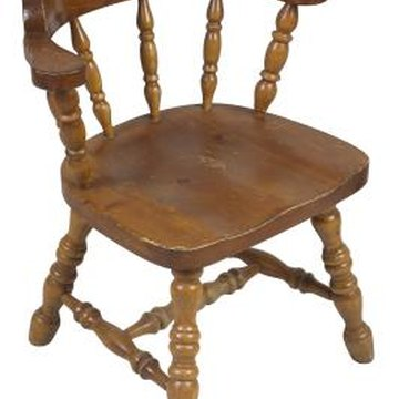 The glue that holds chair rungs in place dries and becomes brittle over time, causing the joint to loosen.