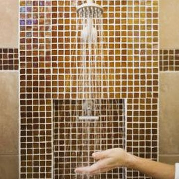 Acrylic wall surrounds typically lack the visual appeal of a tiled wall.