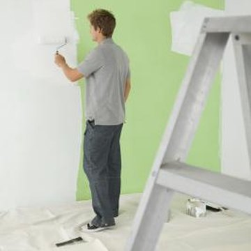 Use primer to cover dark walls.