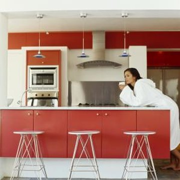 How to tone down glossy painted kitchen cabinets home for Best paint sheen for kitchen cabinets