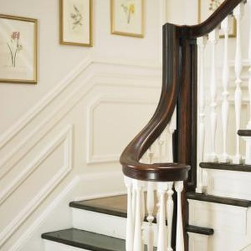 The gooseneck attaches the stair railing to the landing railing.