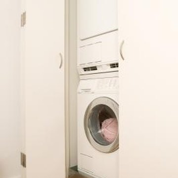 A stackable washer and dryer combo is designed to fit into a smaller space than separate units.
