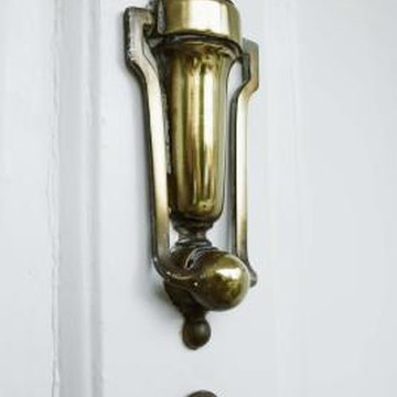 Rust or tarnish on brass hardware is easy to remove.