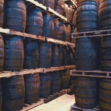 Created to store liquid, whiskey barrels often don't leak.