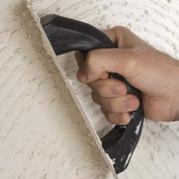 Notched trowels are used for applying carpet and tile adhesive.