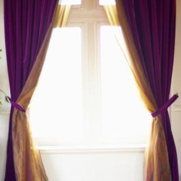 Different colored curtain panels can create different effects.