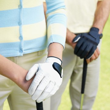 Gloves help golfers hold on to the club and prevent blisters.