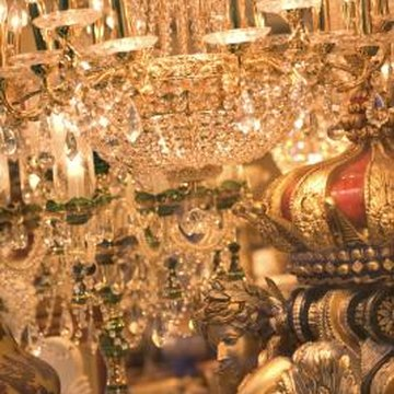 Hundreds of hand-cut crystal pieces make antique crystal chandeliers a work of art.