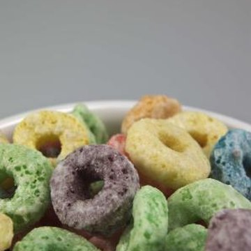 Some cereals may contain a lot of added sugar.