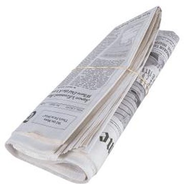 Use only nonglossy, noncolor newspapers for mulching vegetable gardens.