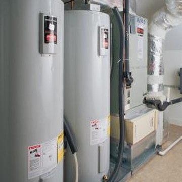 A label clearly displays a water heater's energy specifications.
