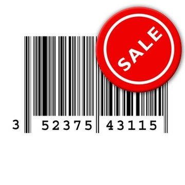 Bar codes, the price, an item