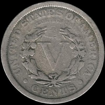 1912 Liberty Head Nickel, Roman numeral V