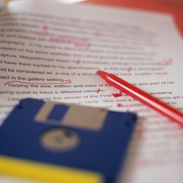 A red pen is a handy editing tool.