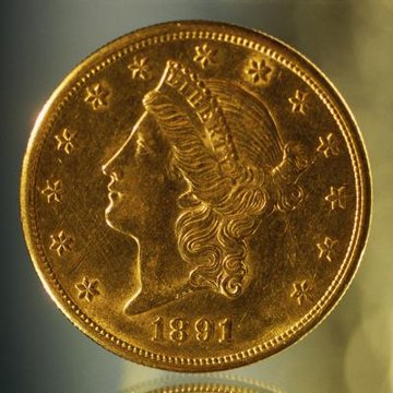 Gold American coin.