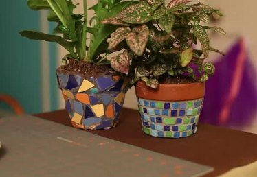 How to Tile a Flower Pot