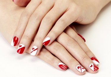 Queen of Hearts Valentine's Day Nail Art