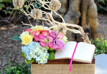 Lovely and Romantic: Vintage Flower and Book Box