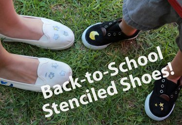 Back-to-School Stenciled Shoes