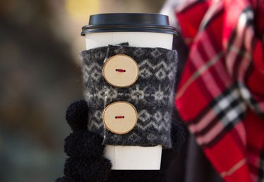 Bundle Up Your Hot Drinks in a DIY Felted Wool Cup Cozy