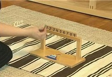 Montessori Counting with Hanging Bead Stair