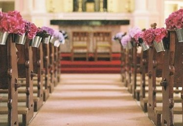 Examples of Wedding Pew Decorations
