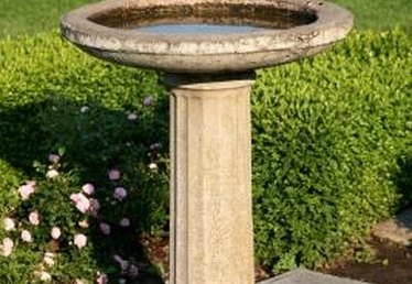 How to Repair a Concrete Birdbath