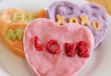 Healthy Homemade Valentine Treats: Jumbo Conversation Hearts