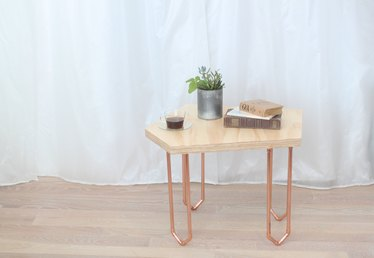 How to Make a Coffee Table With Copper Legs