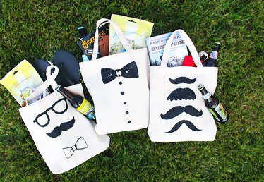DIY Groomsmen Tote Bag