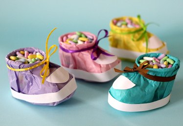 How to Make Baby Shower Booties Out of Tissues