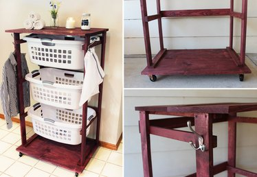 DIY Rolling Laundry Cart