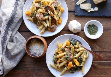 Easy One Pot Butternut Squash and Sausage Pasta Recipe