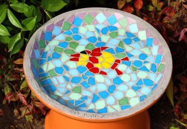 How to Make a Homemade Mosaic Bird Bath