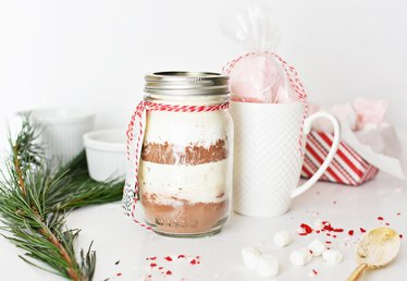 Layer Hot Chocolate Mix in a Jar for the Perfect Holiday Gift