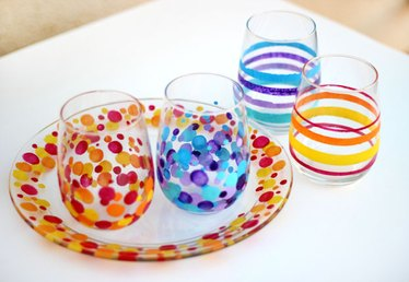 Paint Glass with Acrylic Paints (No Artistic Ability Required!)