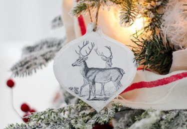 DIY Wood Transfer Christmas Ornaments