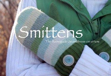 Sweater to Mittens=Smittens DIY
