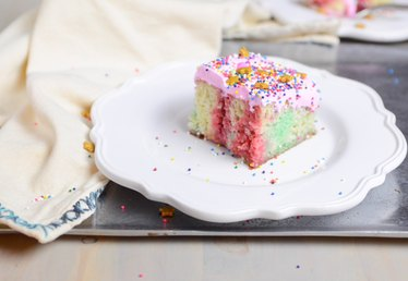Easy to Make Unicorn Poke Cake Recipe