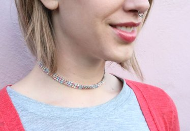DIY This Taylor Swift Inspired Rhinestone Choker