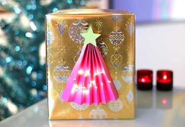 Lighted Christmas Tree Gift Wrap
