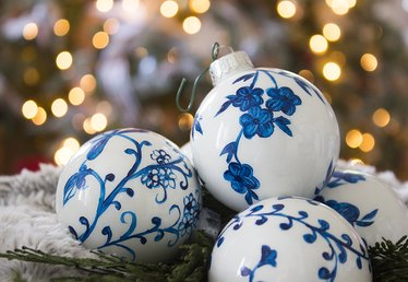Beautiful DIY Chinoiserie Ornaments