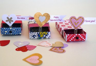 Charm 'Em With DIY Matchbox Pop-Up Valentines