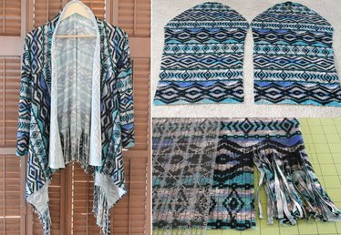 Easy DIY Fringe Cardigan