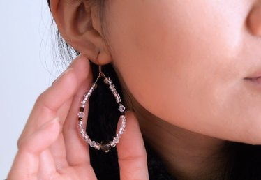 DIY Beaded Crystal Teardrop Earrings