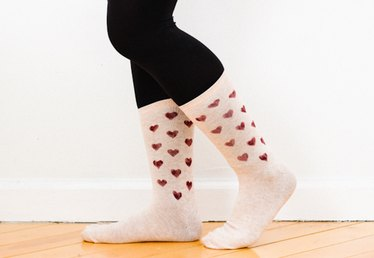 How to Make Heart Print Socks